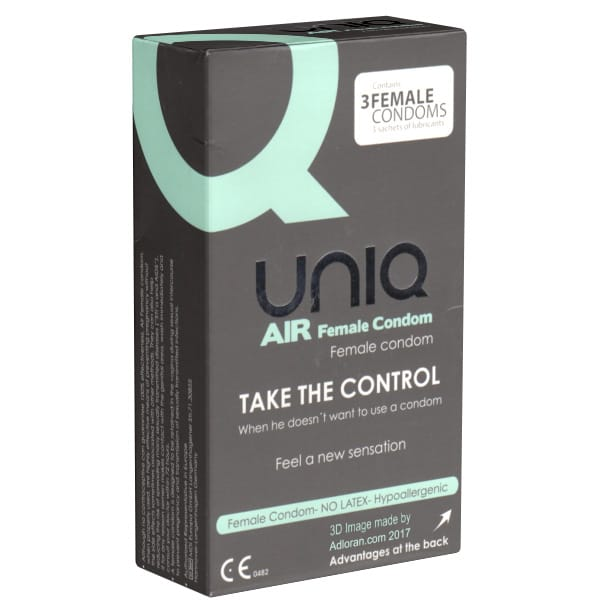 Uniq AIR Female Condom 3-pack